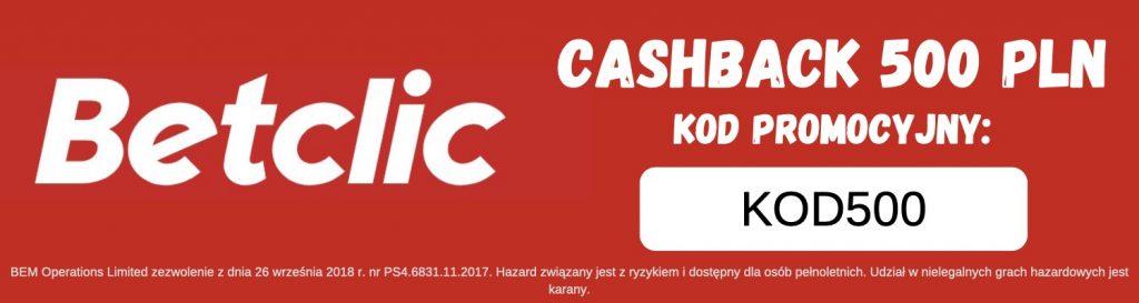 betclic bonus 500 pln